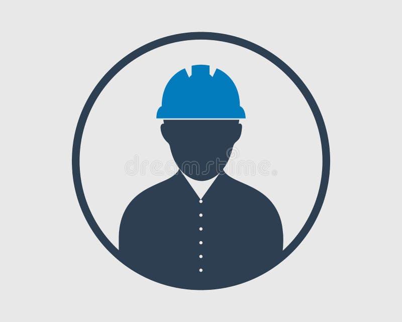 Ingeniero de sexo masculino Icon con forma del círculo libre illustration