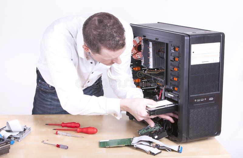 Ingeniero de soporte informático fotos de archivo