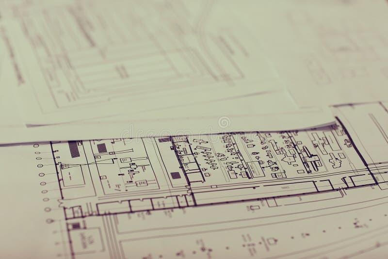 Ingeniero del dibujo del diseñador del concepto imagen de archivo
