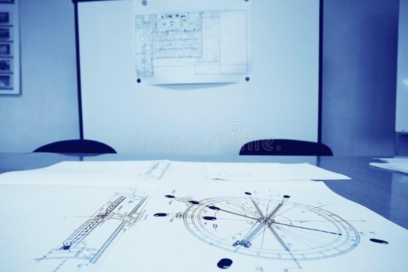 Ingeniero del dibujo del diseñador del concepto imágenes de archivo libres de regalías