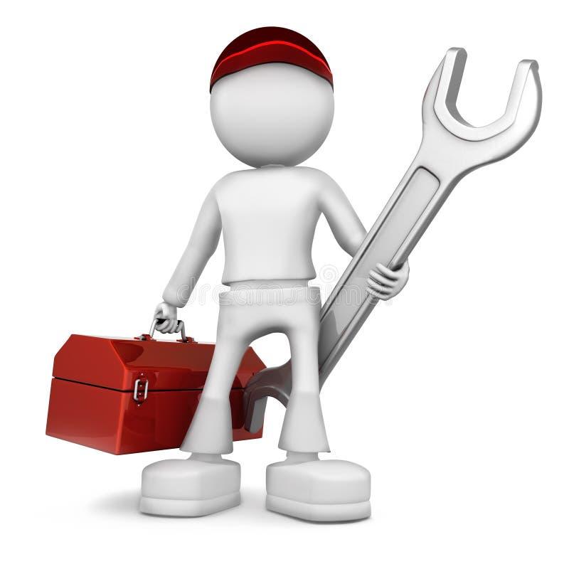 Ingeniero industrial stock de ilustración