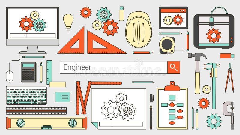 Ingeniero industrial ilustración del vector