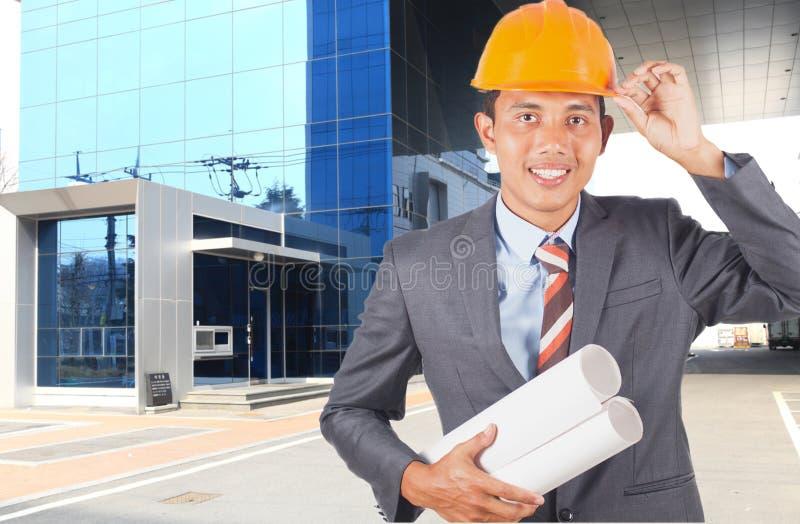Ingeniero joven asi?tico fotografía de archivo libre de regalías