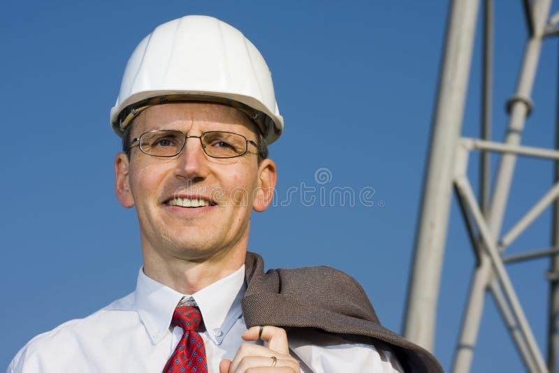 Ingeniero sonriente imagen de archivo libre de regalías
