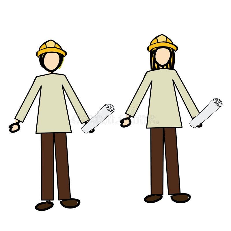 Ingenieur royalty-vrije illustratie