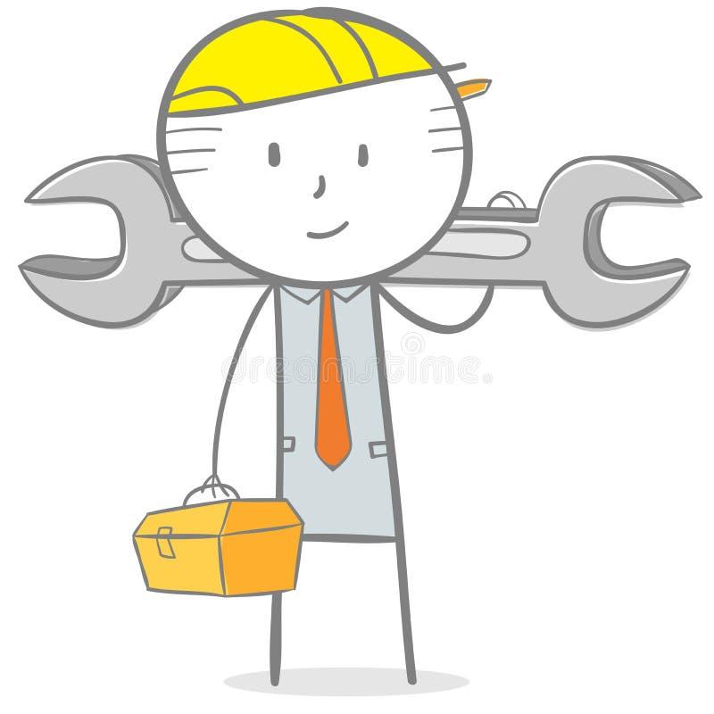 Ingenieur stock abbildung