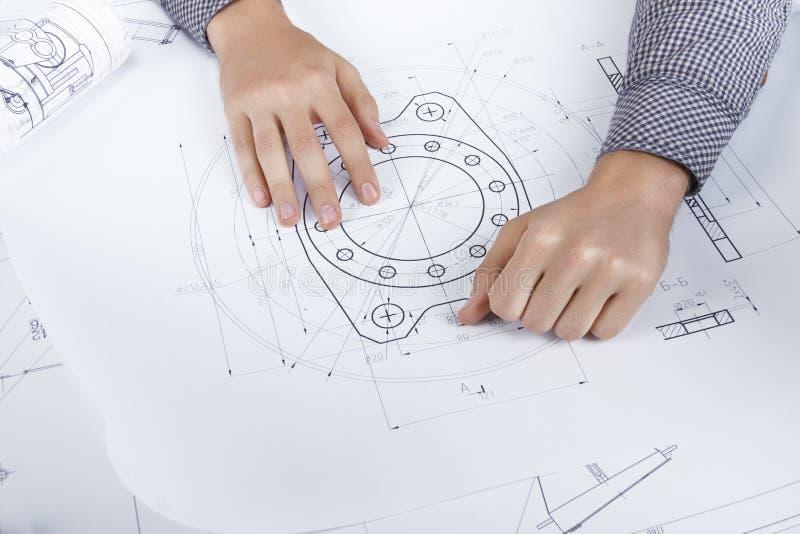 Ingenieur-/Architektenarbeitsplatz lizenzfreies stockfoto