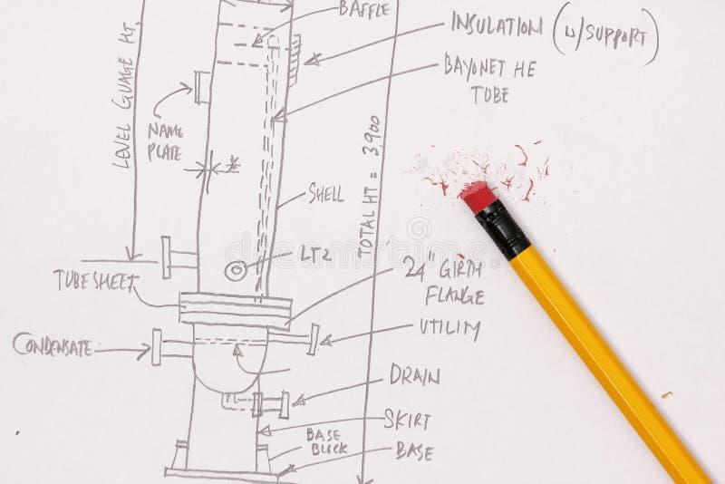 Ingenieur-Berechnung lizenzfreie stockfotografie