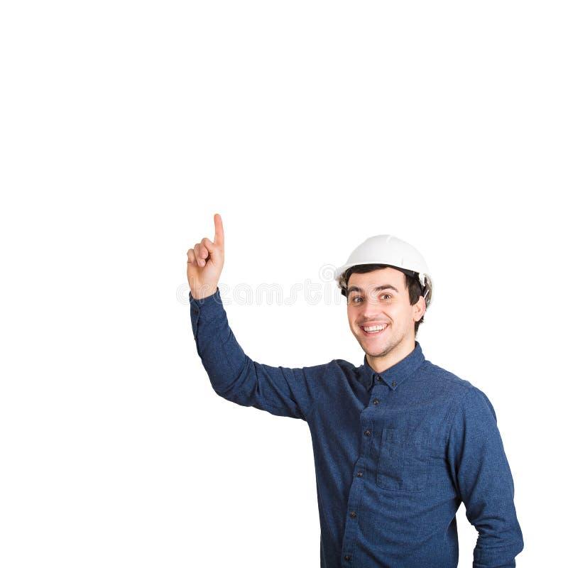 Ingenieur, der sich zeigt stockfotos