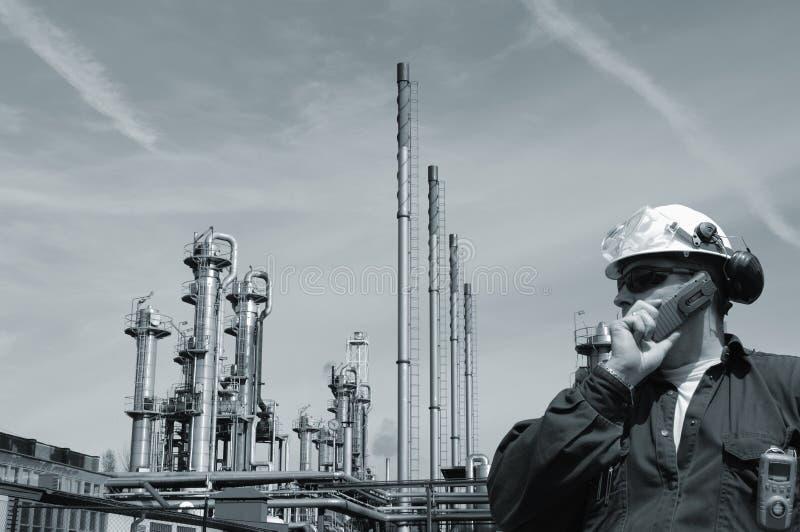 Ingenieur en olie en gas de industrie royalty-vrije stock foto