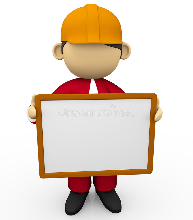 Ingenieur en witte raad vector illustratie