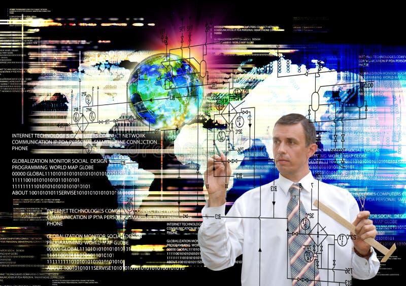 ingenieur Mededeling Industriële het Ontwerpen Technologie royalty-vrije stock foto