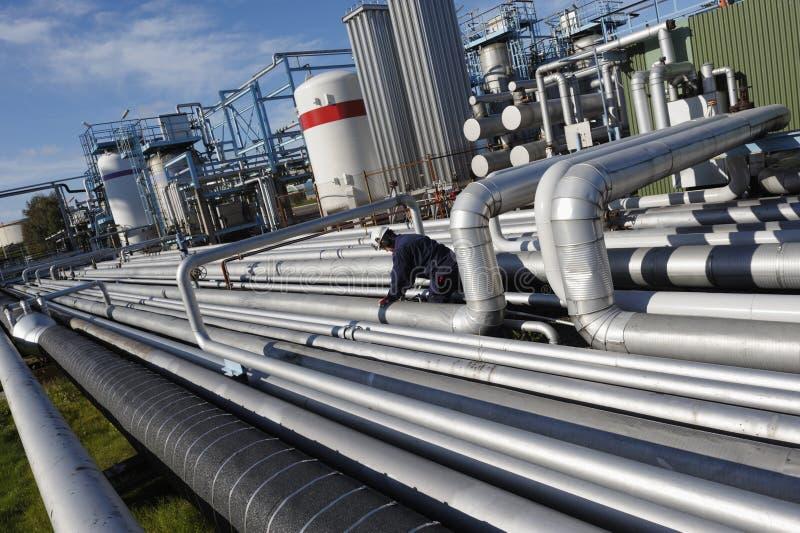 Ingenieur, olie, brandstof en gas stock afbeeldingen