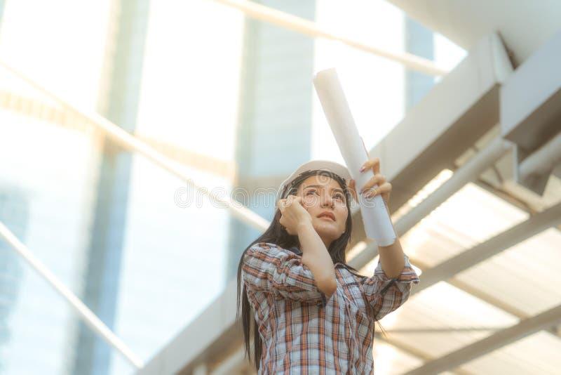Ingenieur Woman stock afbeeldingen