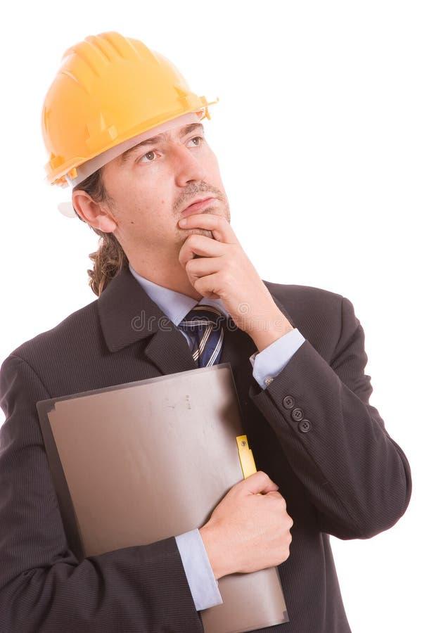 Ingenieuraufstellung getrennt lizenzfreie stockfotos