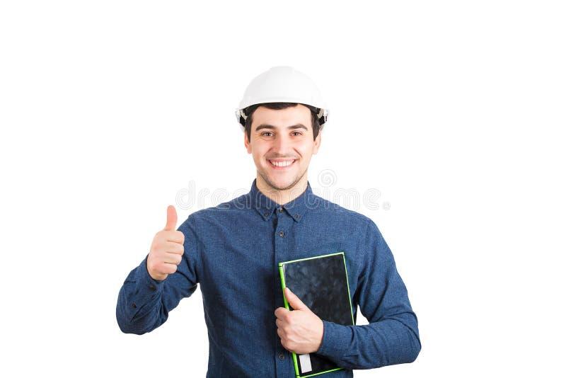 Ingenieurdaumen oben lizenzfreie stockbilder