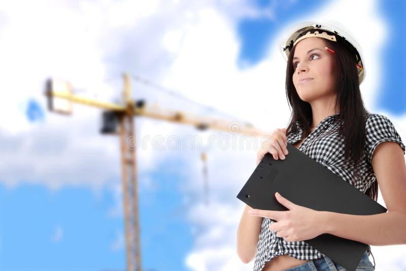 Ingenieurfrau lizenzfreie stockfotos