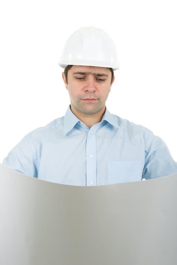 Ingenieurholdinglichtpause stockfotos