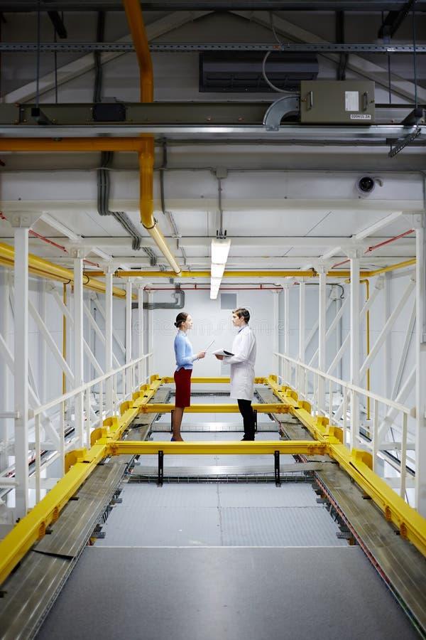 Ingenieurs op het Werk royalty-vrije stock foto