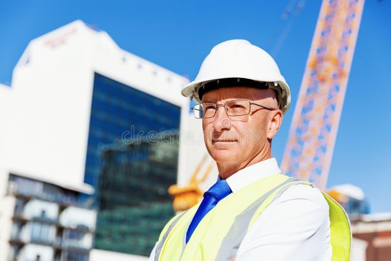 Ingenieursbouwer bij bouwwerf royalty-vrije stock foto