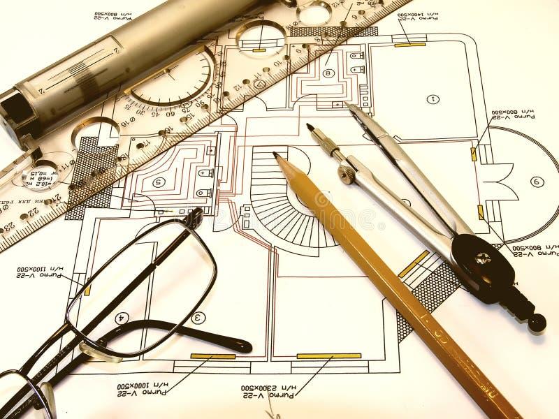 Ingenieurzeichnung lizenzfreies stockfoto