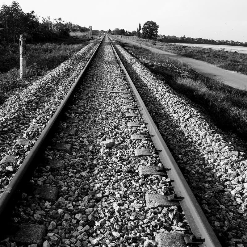 ingenstans järnväg till royaltyfria foton