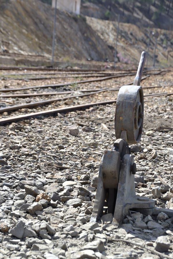 ingenstans järnväg till royaltyfria bilder