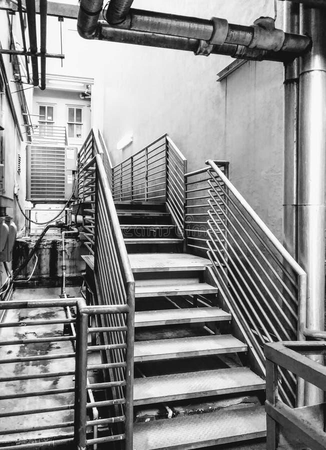 ingenstans trappa till arkivfoton