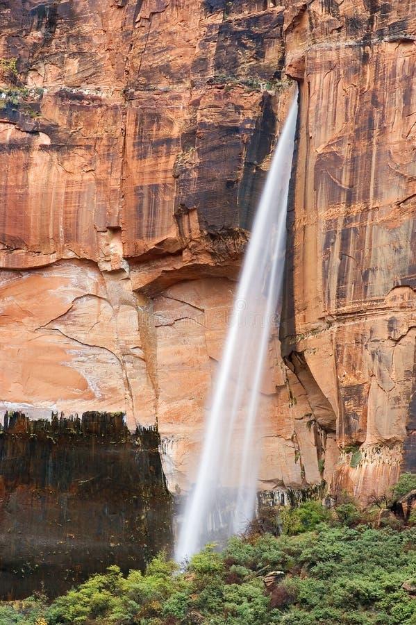 ingenstans vattenfall royaltyfria bilder