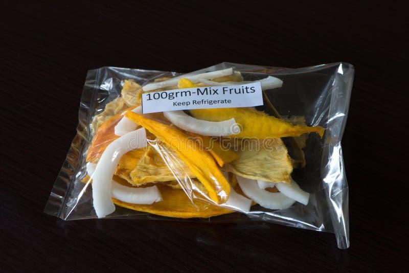 Ingepakt van Gemengde Ontwaterde Vruchten stock afbeeldingen