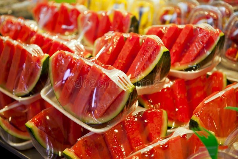 Ingepakte meloenen stock fotografie
