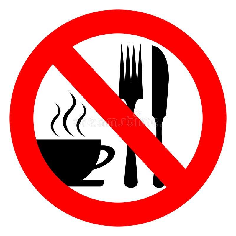 Inget äta och dricka vektor illustrationer