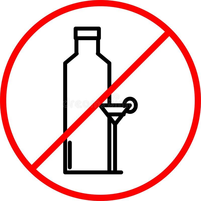 Inget alkoholdrinktecken fotografering för bildbyråer