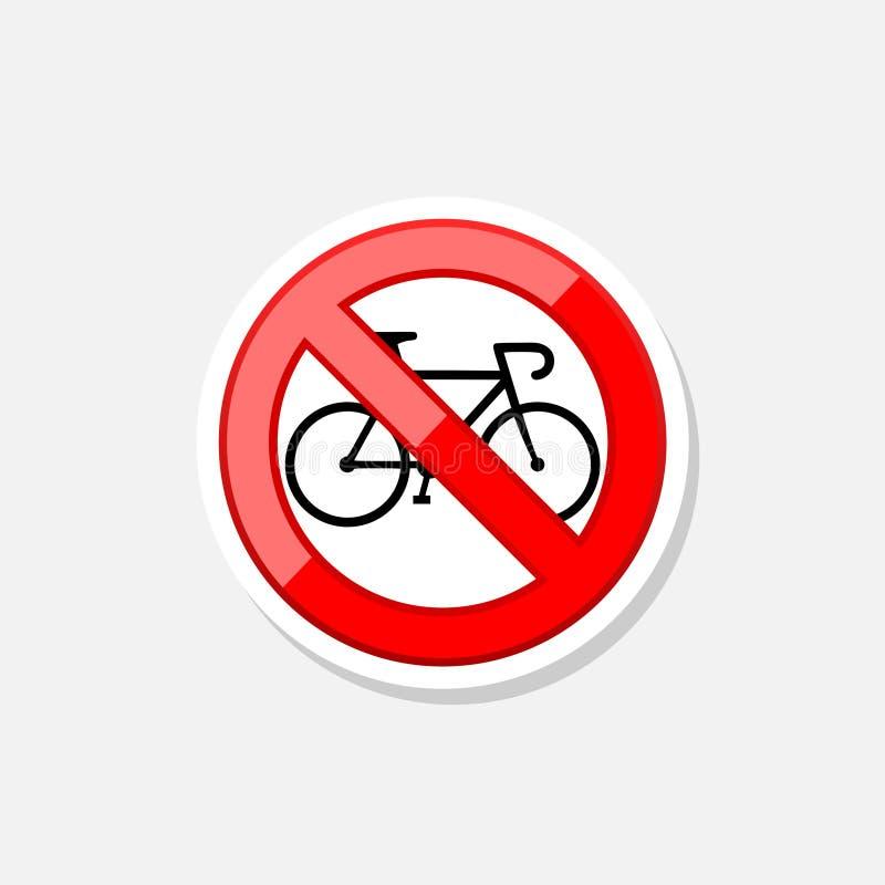 Inget eller stopp Cykeltransportsymbol K?rning av symbol royaltyfri illustrationer