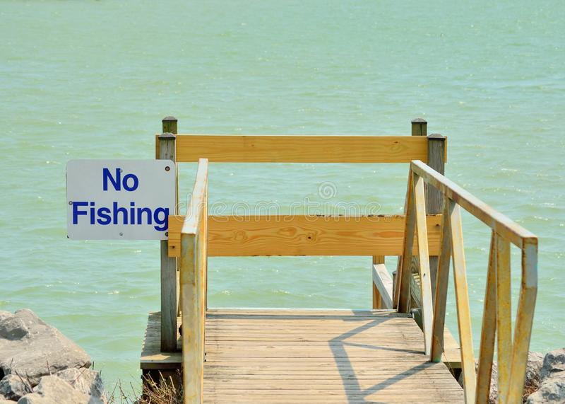Inget fiske royaltyfri fotografi