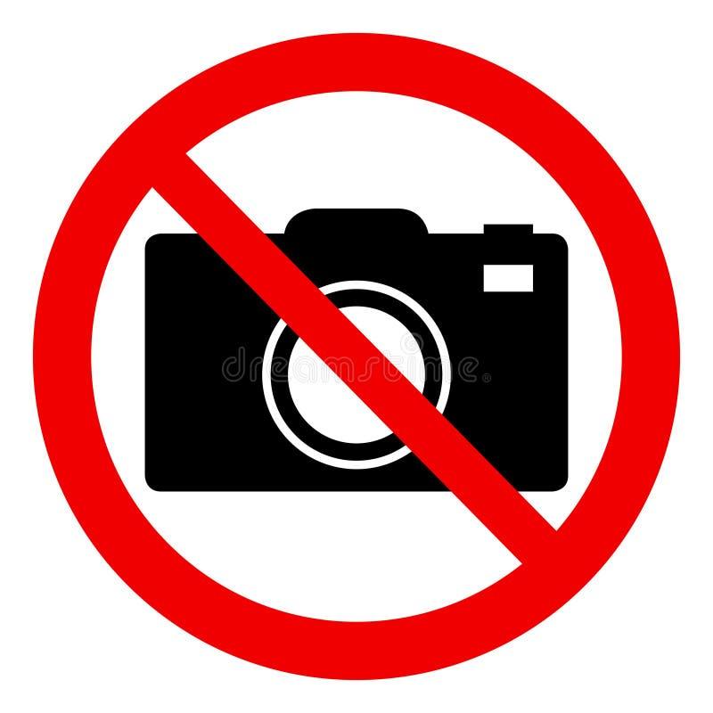 Inget fototecken - förbjudet tecken stock illustrationer