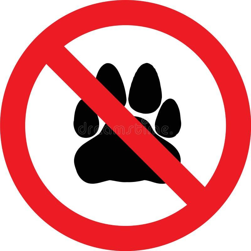 inget husdjurtecken stock illustrationer