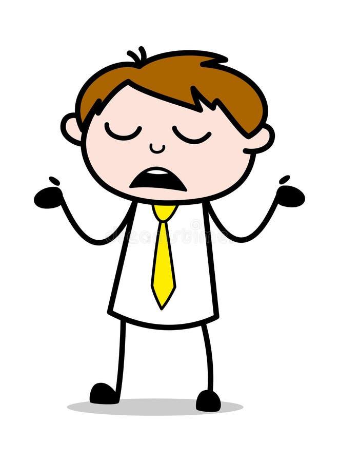 Inget idébegrepp - kontorsrepresentantEmployee Cartoon Vector illustration stock illustrationer
