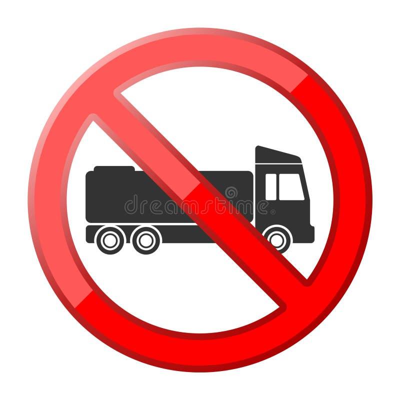 Inget lastbiltrafiktecken stock illustrationer