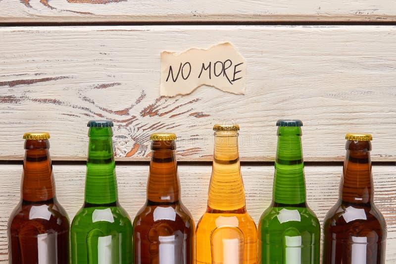 Inget mer alkoholbegrepp royaltyfria bilder