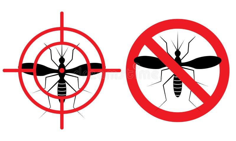 Inget myggatecken också vektor för coreldrawillustration vektor illustrationer