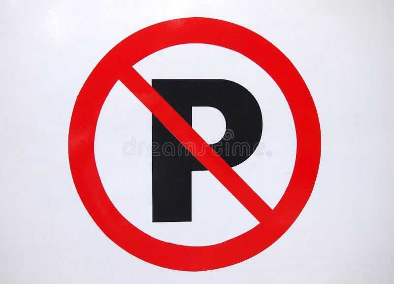 inget parkeringstecken royaltyfri bild