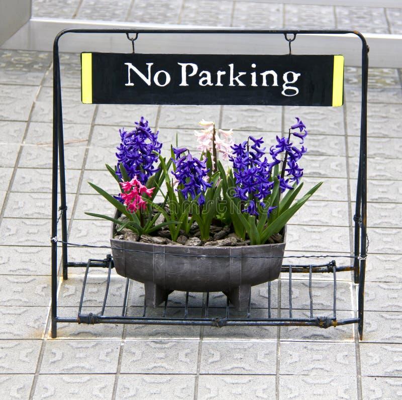 inget parkeringstecken arkivbild