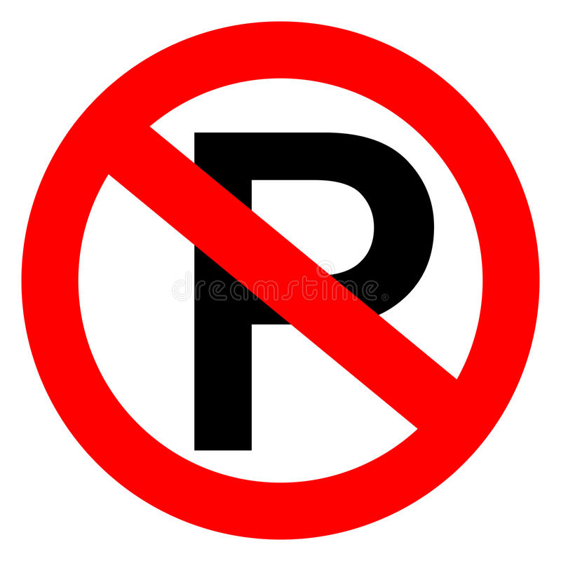 Inget parkeringstecken stock illustrationer