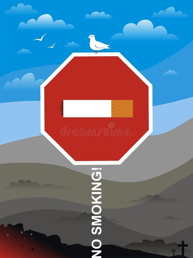 Inget - röka! vektor illustrationer