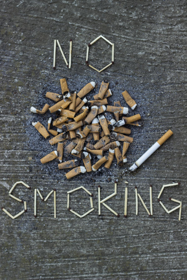 Inget - röka royaltyfria bilder