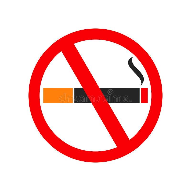 Inget - röka, cigaretttecken - för materiel royaltyfri illustrationer