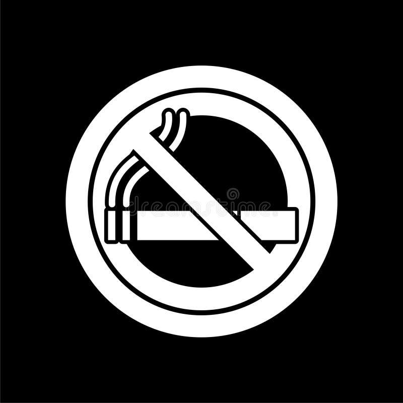 Inget - röka som är inget - röka symbolen på mörk bakgrund stock illustrationer