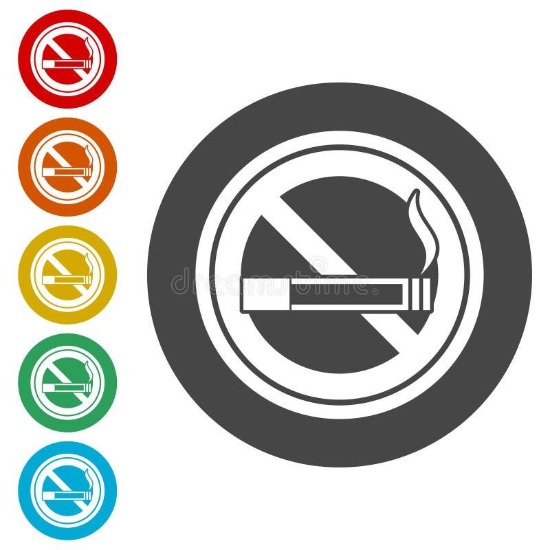 Inget - röka som är inget - röka tecknet royaltyfri illustrationer