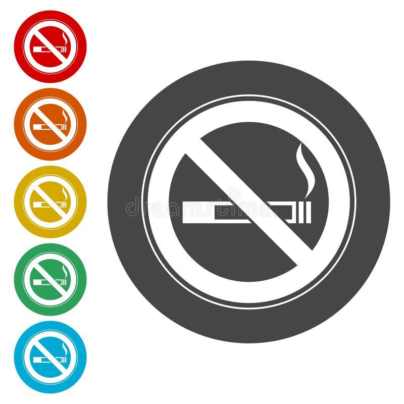 Inget - röka som är inget - röka tecknet vektor illustrationer